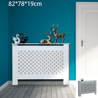 Radiator Cover Cabinet Wood MDF Traditional Cross Design Modern Adjustable