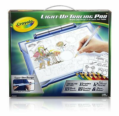 Light-Up Tracing Pad Drawing Board Bright LED Art Set For Kids Boys Blue Gift