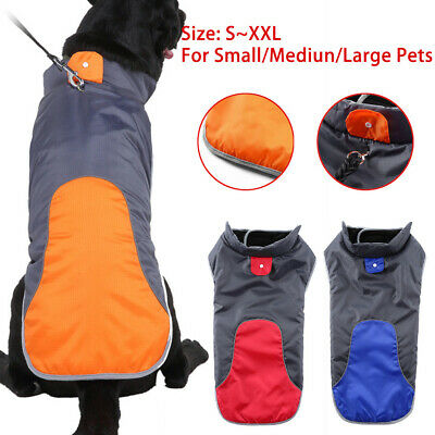 SMALL to 2 EXTRA LARGE Dog Pet Waterproof Winter Rain Coat Warm Jacket Clothes