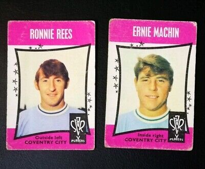 1967/68 A&BC Star Players (Black Backs) - Coventry City Complete Set (x2 Cards)