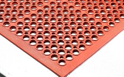 Anti-Fatigue Ring Mats Nitrite Oil Resistant Non-Slip Work Station Safety 5x3ft