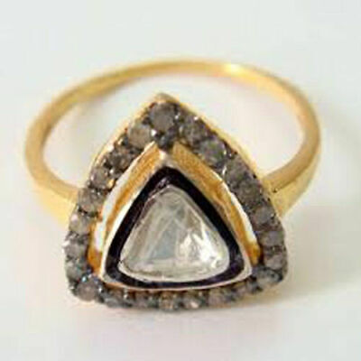 Lovely Victorian Style 1.32 ct Antique Rose Cut Diamond Ring Free Shipping