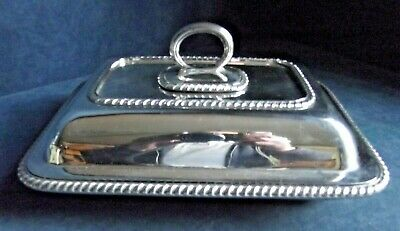 """SUPERB Large 10"""" ~ SILVER Plated ~ SERVING DISH ~ c1900 by William Hutton"""