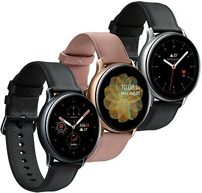 Samsung Galaxy Watch Active 2 SM-R830 Leather Stainless Steel 40mm Smart Watch