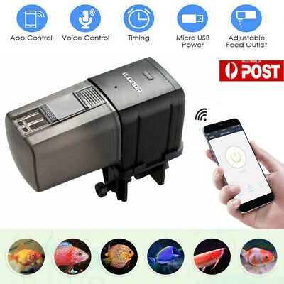 Automatic Wifi Aquarium Fish Food Feeder Adjustable Food Dispenser for Fish Tank