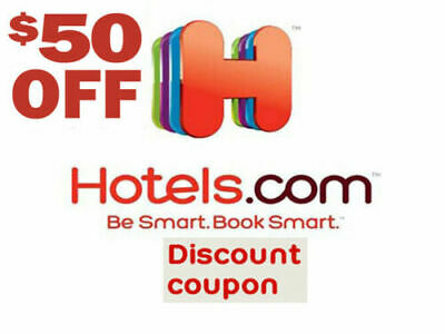 Hotels.com $50 off voucher coupon code - Must Spend $200