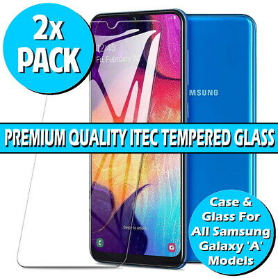 Gorilla Glass Screen Protector For Samsung Galaxy A10 A20/E A40 A50 A70 Gel Case