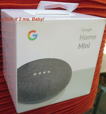 Charcoal! Google Home Mini Personal Assistant New Sealed! Smart Speaker FREE S&H