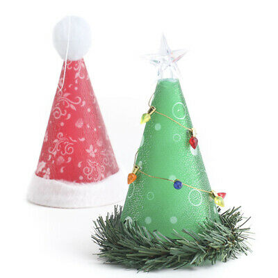 Battery Operated Light up Santa Hat or Christmas Tree Display Ornaments