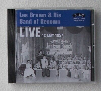 Les Brown & His Band of Renown : Live 12th May 1957 ~ CD Album