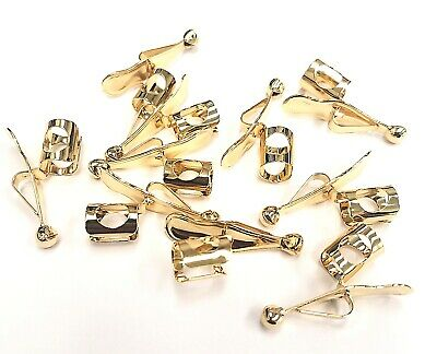 12 Genuine Faultless Pocket Pan/Pencil Clips GOLD-Made in USA