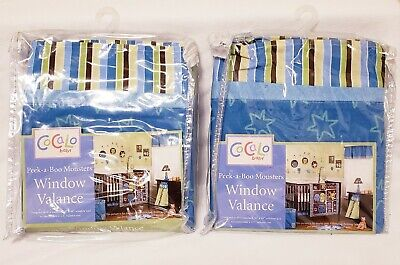 2 Cocalo Peek-a-Boo Monsters Window Valance new in pkg
