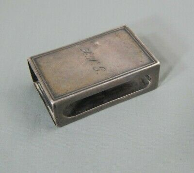 Antique Victorian 1860 Tiffany & Co Sterling Silver Matchbox Case Cover Signed