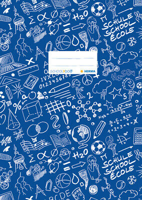 Exercise Book Cover A4 Schoolydoo, Dark Blue, HERMA