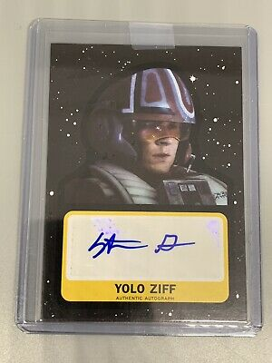 Topps Star Wars Journey The Rise Of Skywalker Stefan Grube /99 Auto As Yolo Ziff