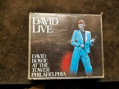 DAVID BOWIE Live At The Tower Philadelphia 2 CD Set 1990 Ryko