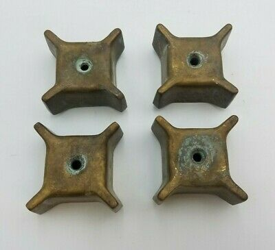 4 PC Lot Vintage Brass Faucet Handle Square Patina Knob Steampunk Art Metal Bib