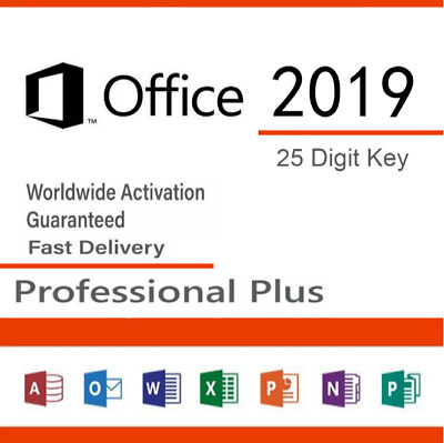 Office 2019 Professional Plus - Product License Key Lifetime 32/64 Bit MS