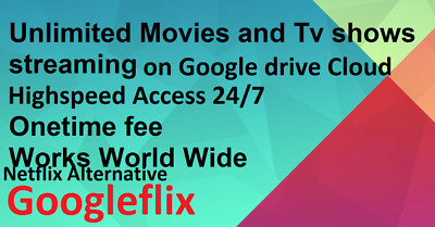 Movie & Tv service+Plex Supported+Google Drive Unlimited+Nflix Alternative