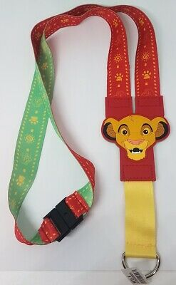 Disney Parks Lion King Young Simba Nala Red Green Pin Lanyard  - NEW