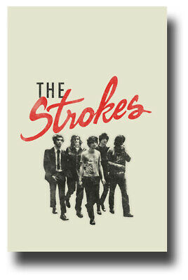 """The Strokes Poster Concert 11""""X17"""" Beige Pic SHIPS SAMEDAY USA"""