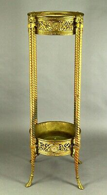 ! Antique Neo-Classical Embossed Brass Large Two-Candle Holder Sconce