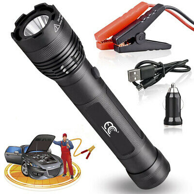 New 2 in1 7 LED Flashlight Torch Red Laser Pointer Light with Strap
