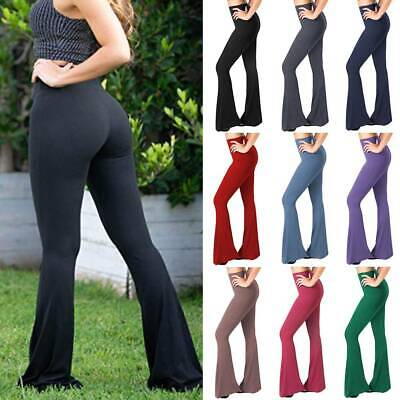 Women's Boot Cut Flare Yoga Pants High Waisted Workout Casual Trousers Leggings