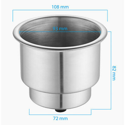 12PCS Marine Stainless Steel Cup Drink Holders for Boat//RV//Camper-US FREE SHIP