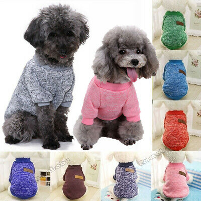 Small Medium Large Dogs Pet Dog Sweater Puppy Knit Clothes Coat Apparel XS-XL