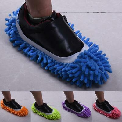 2PCS Mop Slipper Floor Polishing Cover Cleaner lazy Dusting Cleaning Foot Shoes
