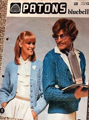 Vintage Patons Knitting Pattern Book 539 Bluebell Family Designs