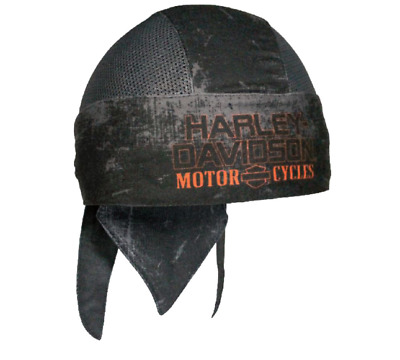Brand New Men's Harley Davidson Charcoal Sublimated H-D Head Wrap