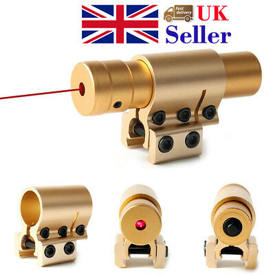 Tactical Red Laser Sight Hunting Mini 20mm/11mm Rail Mount Gold Color Airsoft