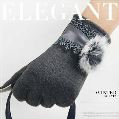 Women Ladies Glove Winter Warm Fleece Lined Thermal Button Touch Screen Gloves