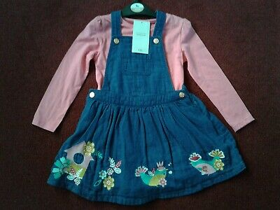 Girls 2 Piece Pinafore Dress Outfit, Age 2-3 Years, New With Tags