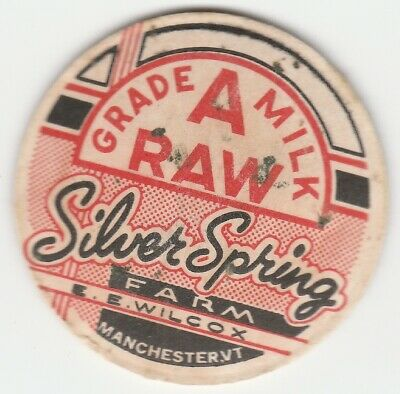 Ossian Antique Collectible IA Vintage Silver Springs Dairy Milk Bottle Cap