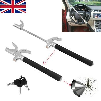 Universal Car Steering Wheel Lock Anti Theft Clamp Security Safety Cone + 3 Keys