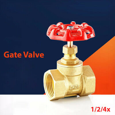 Brass Pipe Fitting With Red Lever Handle Gate Valve DN15 DN20 DN25 DN32 DN40