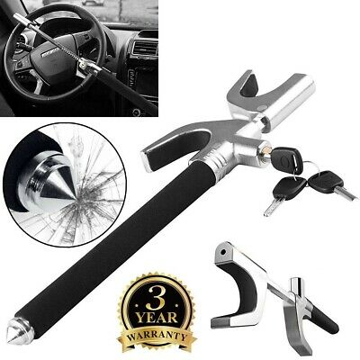 Universal Auto Car Steering Wheel Lock Anti Theft Clamp Safety Locking&3 Keys