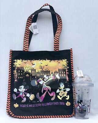 Mickey's Not So Scary Halloween Party 2019 Disney Parks Tote Bag And Tumbler Cup