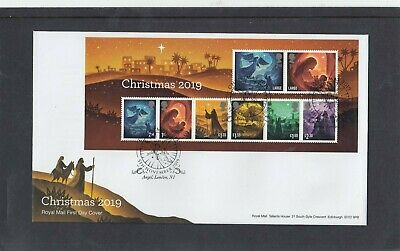GB 2019 Christmas Religious MS First Day Cover Angel London N1 pmk