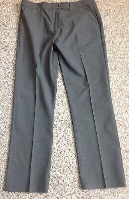 M&S  Girls Grey School Trousers Age 14/15 Years