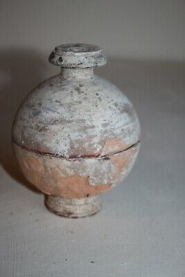 ANCIENT GREEK POTTERY CANOSAN SPHERE PYXIS 3rd CENTURY BC
