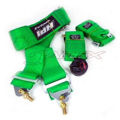 HPI 4-Point 3 Inch Racing Harness Left Side Harness Green HPRH-4900GN-L