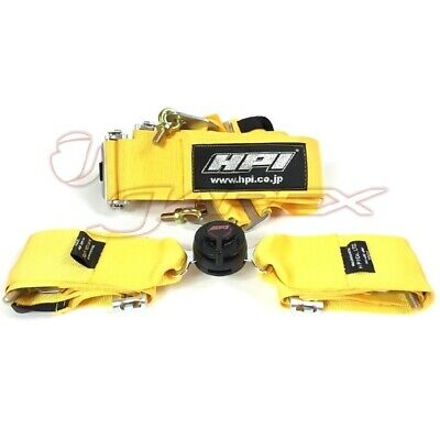 HPI 4-Point 3 Inch Racing Harness Right Side Harness Yellow HPRH-4900YL-R