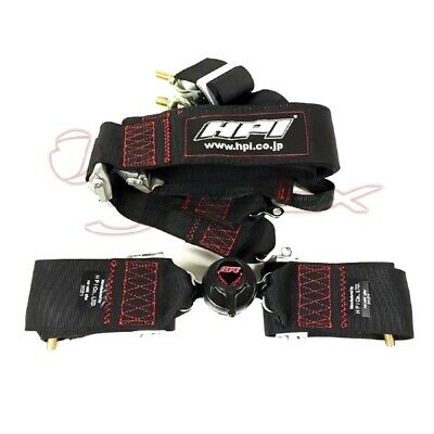 HPI 4-Point 3 Inch Racing Harness Right Side Harness Black HPRH-4900BK-R