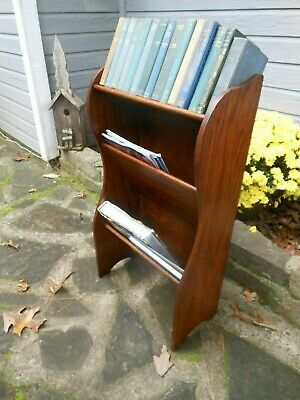 Neat & Petite Oak Newspaper Magazine Rack From England