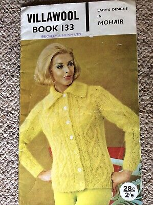 Vintage Villawool Knitting Pattern Book 133 Lady's Designs in Mohair