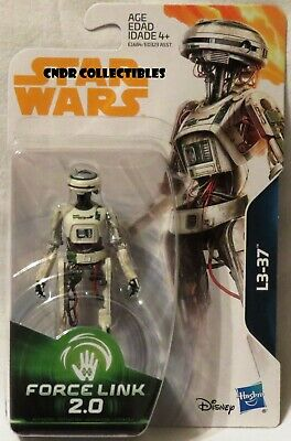"NEW Star Wars Force Link 2.0 HAN SOLO STORY Movie 3.75"" figure L3-37 pilot droid"